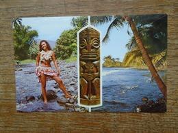 Charmante Tahitienne à La Rivière Fautaua - Tahiti