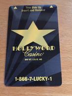 Hotelkarte Room Key Keycard Clef De Hotel Tarjeta Hotel  HOLLYWOOD CASINO BAY ST. LOUIS - Telefonkarten