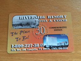Hotelkarte Room Key Keycard Clef De Hotel Tarjeta Hotel  RIVERSIDE RESORT HOTEL & CASINO LAUGHLIN 30 Commemorative Editi - Télécartes