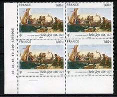 RC 13342 FRANCE N° 5069 TABLEAU CHARLES GLEYRE COIN DATÉ  A LA FACIALE NEUF ** - France