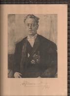 Albert De Vleeschauwer (1938-1971)ondertekend Statieportret, Minister Justitie, Onderwijs, Binnenlandse Zaken COLLECTORS - Autógrafos