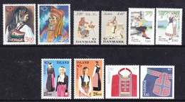 Norden 1989 5 Countries 10v ** Mnh  (44453) - Europese Gedachte