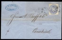 S7653 - Preussen 2 GR Auf Briefumschlag , Altgelt: Gebraucht Krefeld - Osnabrück 1865 , Bedarfserhaltung Mit Inhalt. - Prussia