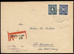 S7870 - All. Besetzung Ziffer R - Briefumschlag Mit Landpoststempel: Gebraucht Westerenger über Herford - Halle Westfa - Zone AAS