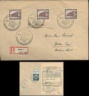 S7923 - DR 15 Pfg WHW MiF Auf Ort R - Briefumschlag Mit Einlieferungszettel: Gebraucht Mit Sonderstempel Berlin 1936, - Briefe U. Dokumente