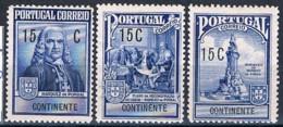 Portugal, 1925, # 18/20, Imposto Postal, MH - Neufs
