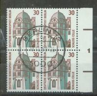 S8147 - Berlin Nr.793 SR 4er Block Mit Nr.1: Gebraucht Zentr. Stempel. - Berlin (West)