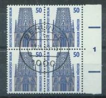 S8148 - Berlin Nr.794 SR 4er Block Mit Nr.1: Gebraucht Zentr. Stempel. - Berlin (West)