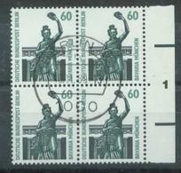 S8149 - Berlin Nr.795 SR 4er Block Mit Nr.1: Gebraucht Zentr. Stempel. - Berlin (West)