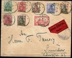 S8208 - Danzig Nr. 1-8 Auf Briefumschlag : Gebraucht Danzig 1920, Bedarfserhaltung. - Dantzig