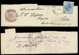 S8252 Rumänien GS Streifband + Marke: Gebraucht Bukarest - Loca 1898 , Bedarfserhaltung. - 1881-1918: Carol I.