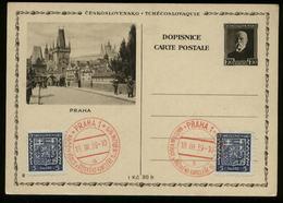 S8270 DR Böhmen Mähren GS Postkarte Bild Prag: Gebraucht Mit Sonderstempel Prag 1939 - Allemagne