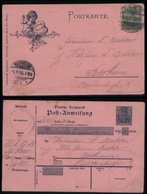 S8273 - DR Liebes Postanweisung Postkarte : Gebraucht Leer - Borkum 1900, Bedarfserhaltung. - Briefe U. Dokumente