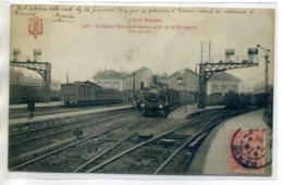 75 TOUT PARIS 506- Train Gare Montparnasse Les Quais Aiguillages 1905 Timbrée    /D19-S2017 - Metropolitana, Stazioni
