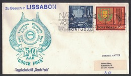 """RB118   Portugal 1976 Letter From Lisbon From The Sail Training Ship """"Gorch Fock"""" - Lettere"""