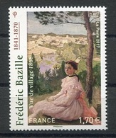 RC 13362 FRANCE N° 5122 TABLEAU FRÉDÉRIC BAZILLE A LA FACIALE NEUF ** - Frankreich