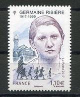 RC 13366 FRANCE N° 5129 GERMAINE RIBIÈRE A LA FACIALE NEUF ** - Frankreich