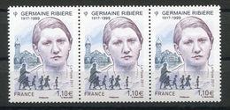 RC 13367 FRANCE N° 5129 GERMAINE RIBIÈRE A LA FACIALE NEUF ** - Nuovi