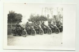 REPARTO MOTORIZZATO MILITARI ITALIANI SU MOTO GUZZI  CAMPAGNA D'AFRICA -  FOTO SU CARTA AGFA - NV FP - Materiale