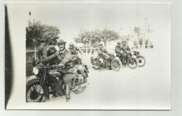 REPARTO MOTORIZZATO MILITARI ITALIANI MOTO GUZZI  CAMPAGNA D'AFRICA -  FOTO SU CARTA AGFA - NV FP - Materiale