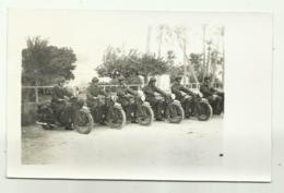 REPARTO MOTORIZZATO MILITARI ITALIANI MOTO GUZZI  CAMPAGNA D'AFRICA -  FOTO SU CARTA AGFA - NV FG - Materiale