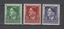 Allemagne ~ Pologne Gouvernement General  1944  N° 128 / 30 Neuf XX  (3 Valeurs ) Série Compléte - 1939-44: 2ème Guerre Mondiale