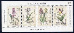 SWEDEN 1982 Wild Orchids Block MNH / **.  Michel Block 10 - Hojas Bloque