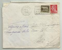 FRANCOBOLLI CENT. 5 + 20 IMPERIALE 1938 SU BUSTA - 1861-78 Victor Emmanuel II.