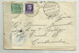 FRANCOBOLLI CENT. 50 + ESPRESSO LIRE 1,25 CON CENSURA COMMISSIONE ROMA 1941  SU BUSTA - 1861-78 Victor Emmanuel II.