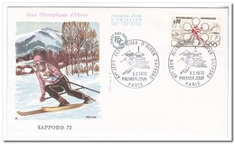 Frankrijk 1972, FDC, Winter Olympics - Winter 1972: Sapporo