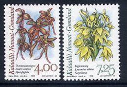 GREENLAND 1995 Arctic Orchids I MNH / **.  Michel 256-57 - Groenlandia