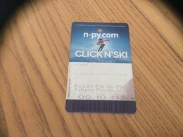Ticket De Transport (téléphérique) « Accès Pic Du Midi » - Titres De Transport