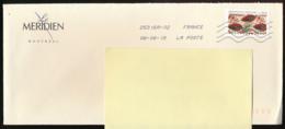 """2019 : Timbre Postal Adhésif """"Arts, Inspiration Africaine, Tissus Africains"""" Seul Sur Lettre, Hôtel Le Méridien Montréal - 1961-...."""