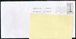 """2019 : Timbre Postal Adhésif """"Phare De Goury, La Hague"""" Seul Sur Lettre - 1961-...."""