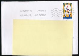 """2017 : Timbre Postal Adhésif """"Les Arts Du Cirque, Acrobatie Sur Cheval"""" Seul Sur Lettre - 1961-...."""