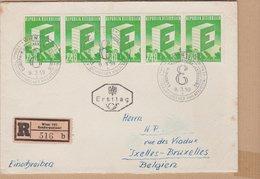 ENVELOPPE TIMBRE 1959  RECOMMANDE WIEN 101 SONDERPOSTANT  VOIR TIMBRES ET CACHETS - 1945-60 Storia Postale