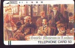 Télécarte Japon * SOSEKI MUSEUM LONDON * PEINTURE ENGLAND * ART (2376)  Japan * Phonecard * KUNST TK - Painting