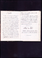 Livret Manuscrit D'un Soldat 4eme Batterie 16eme Bataillon De Rueil Malmaison - Documents