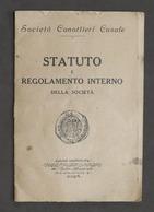 Canottaggio - Società Canottieri Casale - Statuto E Regolamento Interno - 1925 - Libros, Revistas, Cómics
