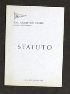 Sport Canottaggio - Società Canottieri Casale - Statuto - 1968 - Libros, Revistas, Cómics