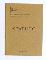Sport Canottaggio - Società Canottieri Casale - Statuto - 1973 - Libros, Revistas, Cómics