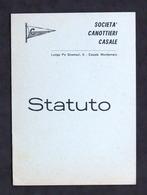 Sport Canottaggio - Società Canottieri Casale - Statuto - 1960 Ca. - Libros, Revistas, Cómics
