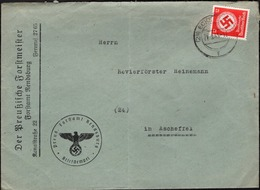 Germany - Dienstpost EF Brief, Der Preussische Forstmeister Rendsburg-Eckernförde 21.3.1945 N. Ascheffel. - Dienstpost