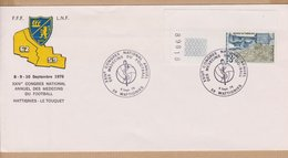 ENVELOPPE TIMBRE  1978 XXIV CONGRES NATIONAL ANNUEL DES MEDECINS DU FOOTBALL (WATTIGNIES) - Marcophilie (Lettres)
