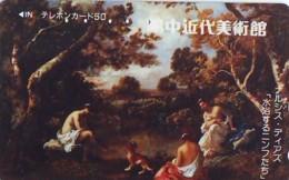 Télécarte Japon * EROTIQUE * PEINTURE FRANCE * ART (2383)  Japan * Phonecard * KUNST TK - Peinture