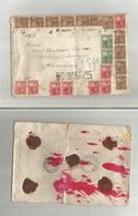 ARGENTINA. 1904 (16 March) Coronel Suarez - Germay, Oldislelen (11 April) Multifkd Large Envelope. Registered Spectacula - Argentina