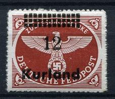 44145) DT.BESETZUNG Kurland # 4 Postfrisch Aus 1945, 20.- € - Occupation 1938-45