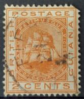 BRITISH GUIANA 1876 - Canceled - Sc# 73 - 2c - British Guiana (...-1966)