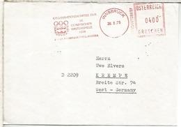 AUSTRIA INNSBRUCK FRANQUEO MECANICO METER JUEGOS OLIMPICOS INVIERNO 1976 - Invierno 1976: Innsbruck