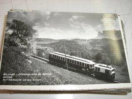 CARTOLINA BOLZANO -CREMAGLIERA DEL RENON - Trains